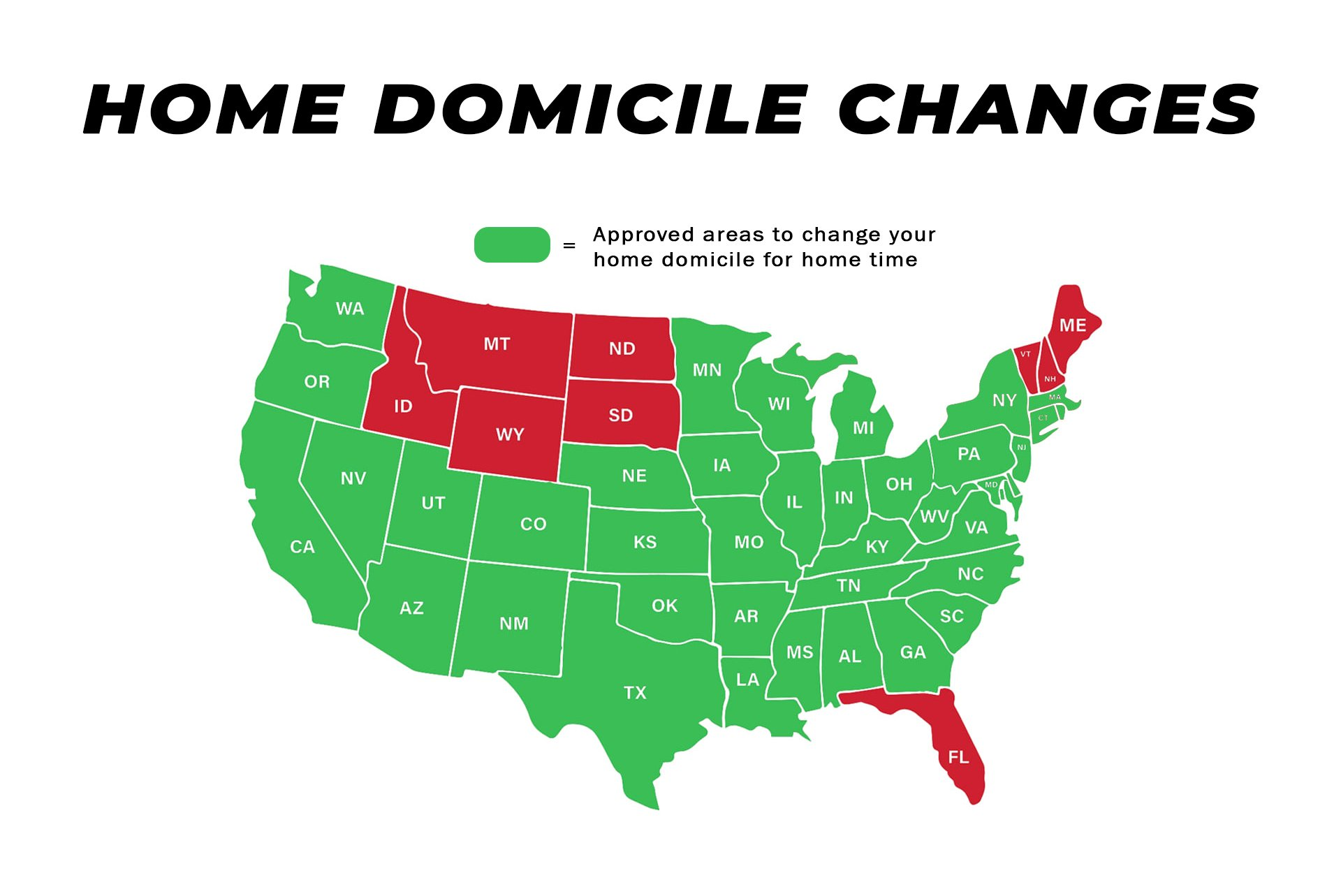 Flexible home domicile map