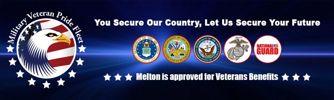 Military Veteran Pride Fleet. Melton is approved for VA benefits.