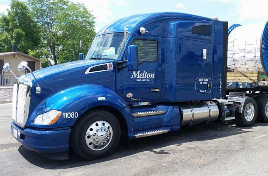 Melton Truck Lines blue Kenworth