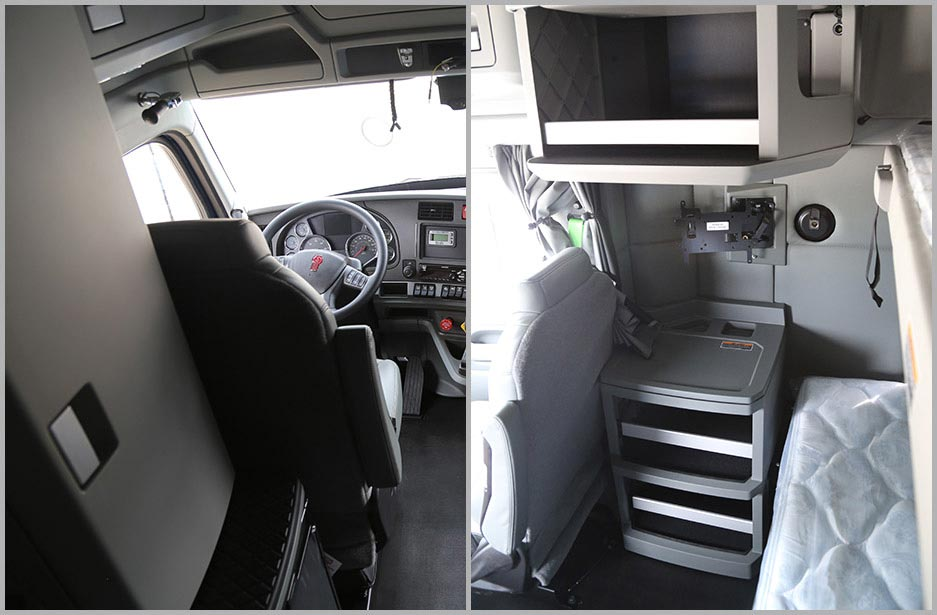Interior of Kenworth with sleeper